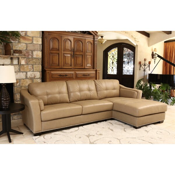Bonniview Leather Sectional by Darby Home Co