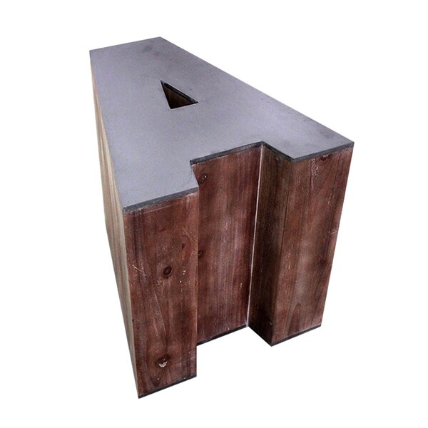 Letter-shaped (A) Wooden Accent Stool by Jeco Inc.