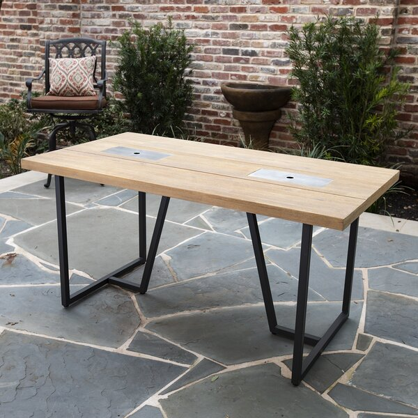 Veda Solid Wood Dining Table by Brayden Studio
