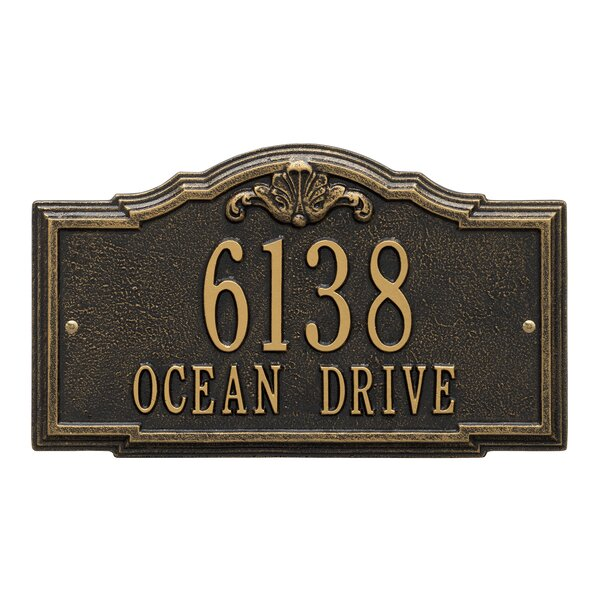Gatewood Personalized Standard 2 Line Wall Address Plaque By Whitehall Products.