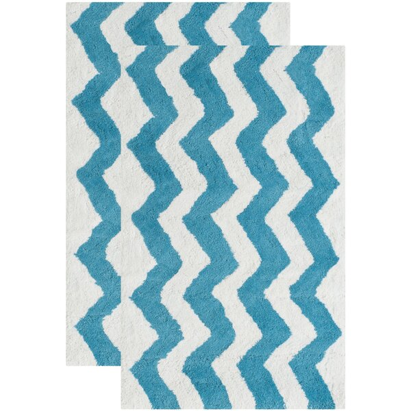 Wadley Hand-Tufted Arizona Blue Area Rug (Set of 2) by Harriet Bee