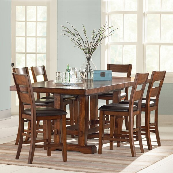 Ellington 7 Piece Counter Height Extendable Dining Set by Millwood Pines Millwood Pines