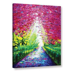 Central Park In Spring Painting Print on Wrapped Canvas by Red Barrel Studio