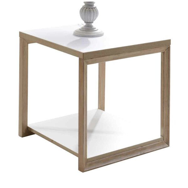 Liao Solid Wood Sled End Table With Storage By Imagio Home By Intercon