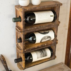 Chryses Brick Mold Wall Mounted Wine Bottle Rack by Trent Austin Design