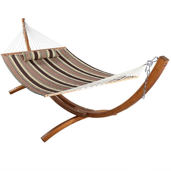 Eggers Spreader Bar Hammock with Stand by Darby Home Co Darby Home Co