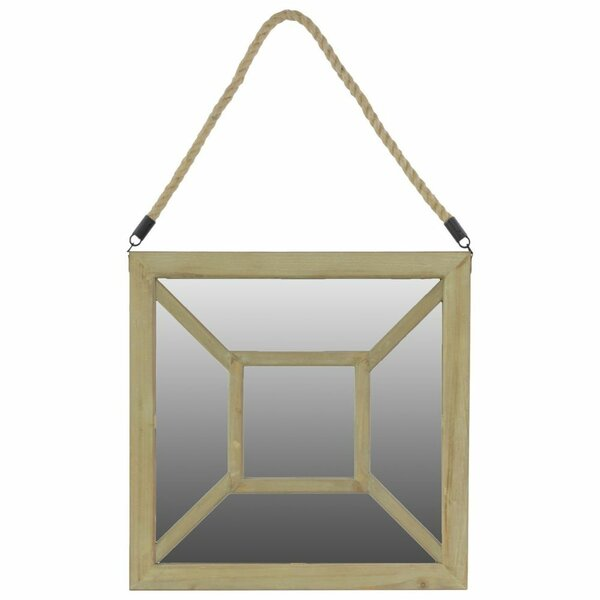 Linley Square Wooden Accent Mirror with Rope Hanger by Ophelia & Co.