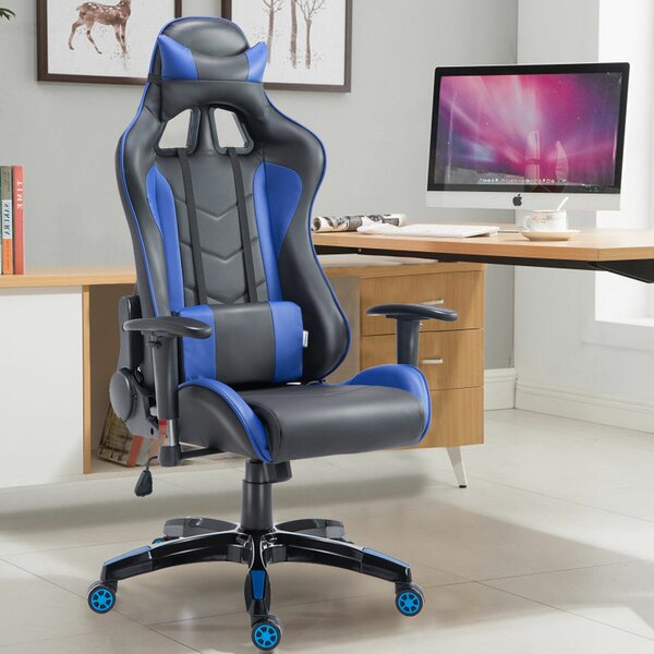 Lagasse High Back Executive Racing Reclining Swivel Leather Gaming Chair by Symple Stuff