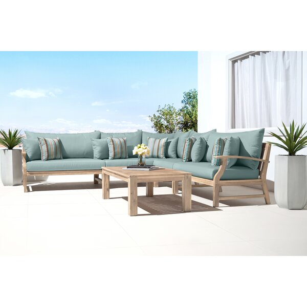 Mcclellan 6 Piece Sectional Seating Group with Cushions by Rosecliff Heights