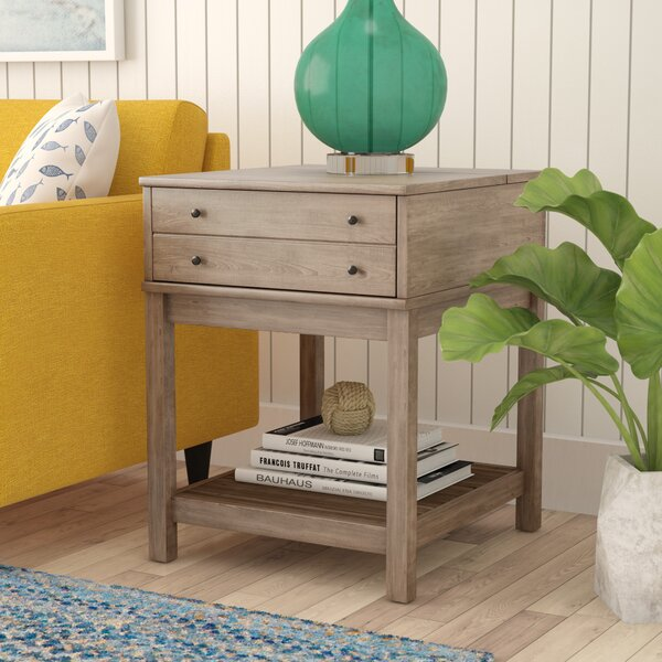 Bowerbank End Table with Storage by Beachcrest Home