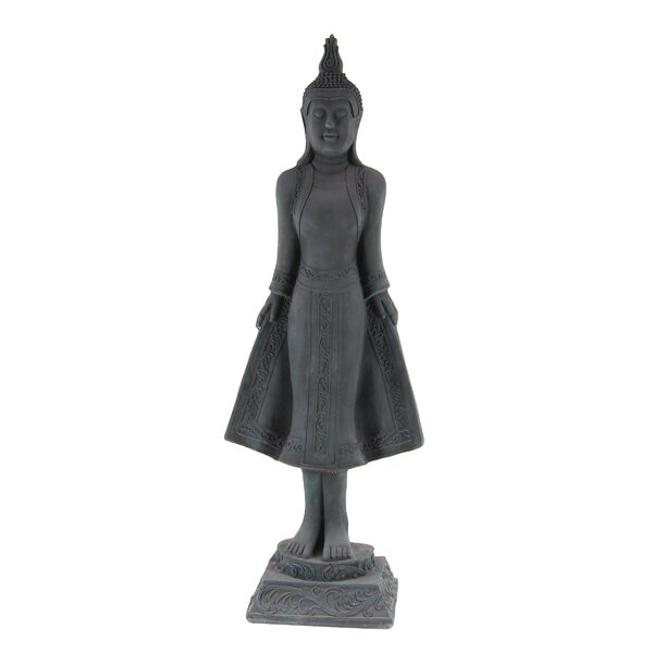 Herald Square Traditional Standing Buddha Resin Figurine by World Menagerie