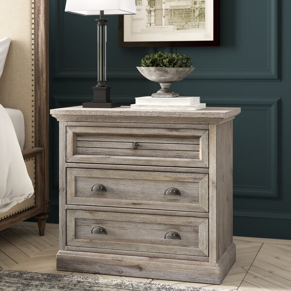 Lowenstein 3 Drawer Nightstand by Rosecliff Heights Rosecliff Heights