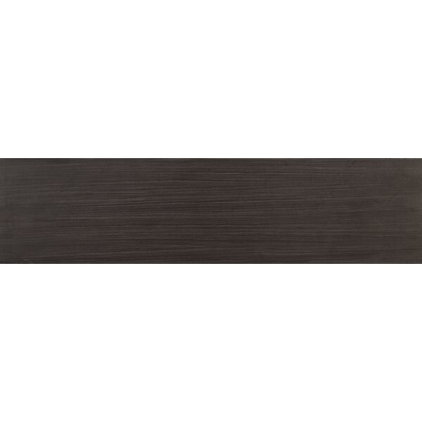 Sygma Ebony 6 x 24 Ceramic Wood look Tile in Black by MSI