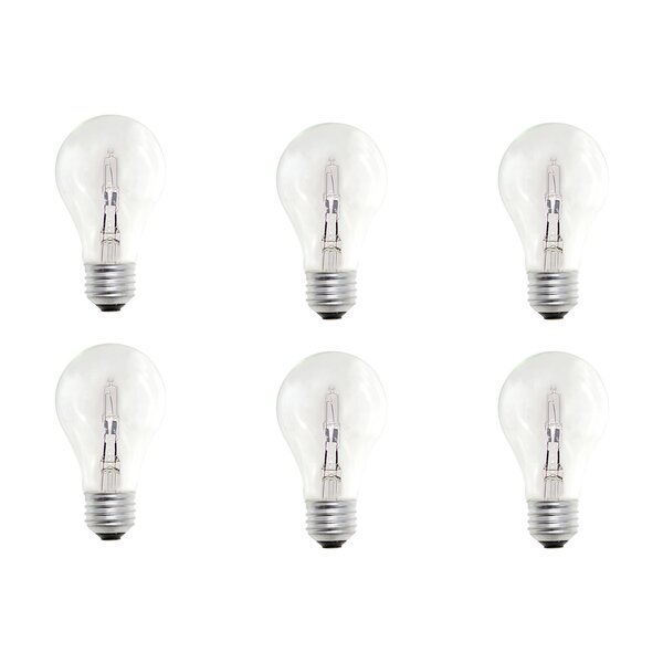 E26 Dimmable Halogen Light Bulb (Set of 12) by Bulbrite Industries