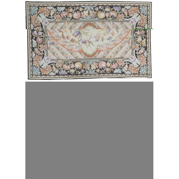 One-of-a-Kind Renaissance Pontremoli Hand-Knotted Beige/Green 10' x 13'11 Wool Area Rug