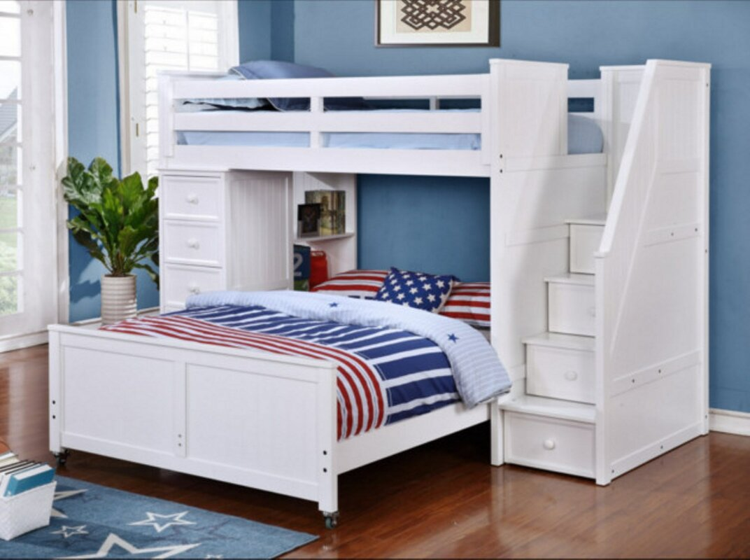 Danelle Twin Over Full L-Shaped Bunk Bed