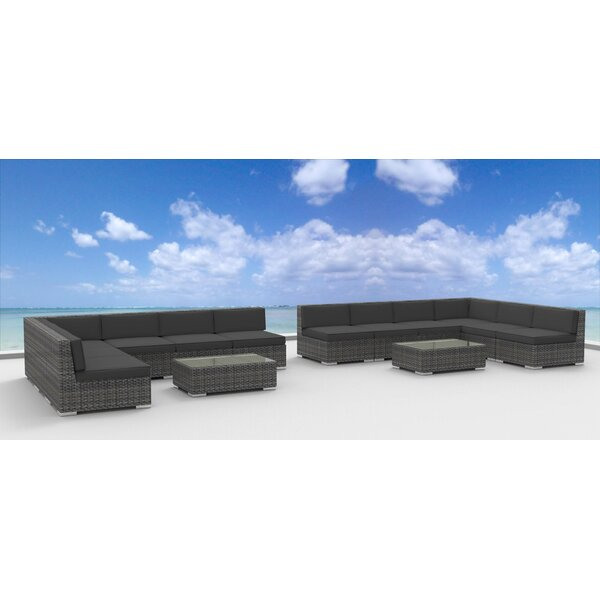 Venice 14 Piece Sectional Set with Cushions by Urban Furnishings