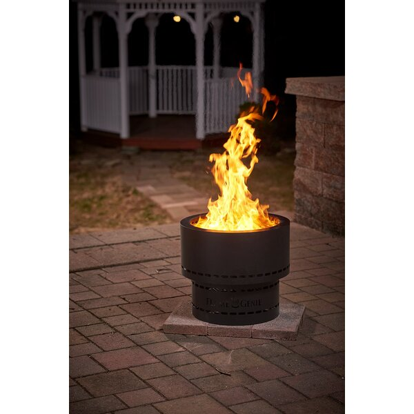Inferno Steel Wood Burning Fire Pit by Flame Genie