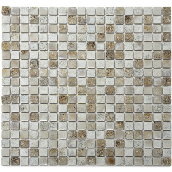Terrene 0.6 x 0.6 Porcelain Mosaic Tile in Demeter Multi by Solistone