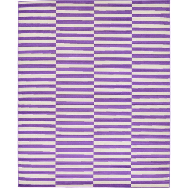 Braxton Purple Area Rug by Mercury Row