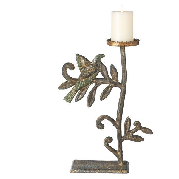 Large Bird Iron Candlestick by CBK