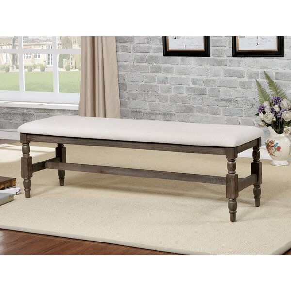 Faunce Rustic Wood Bench by Charlton Home