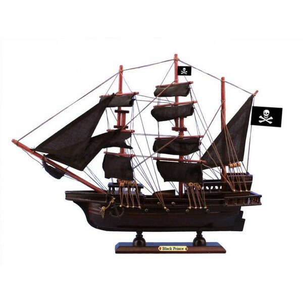 Wheatley Wooden Ben Franklin's Prince Sails Pirate Ship Model by Breakwater Bay