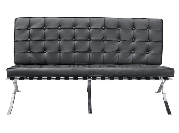 Pavilion Leather Loveseat by Fine Mod Imports
