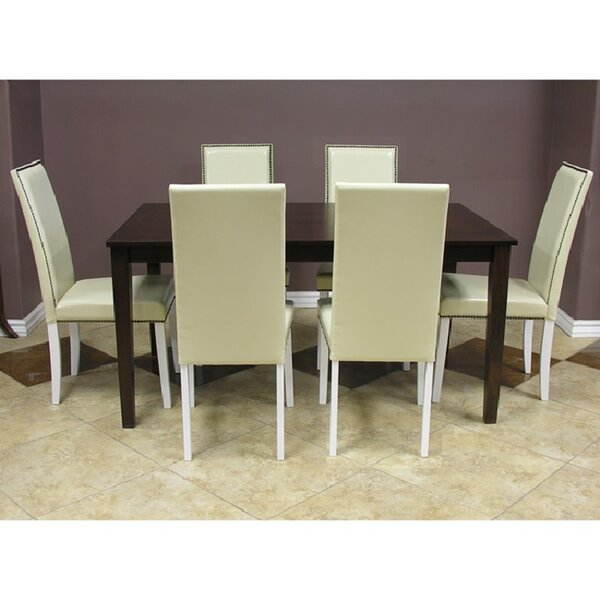 Blazing 7 Piece Solid Wood Dining Set by Warehouse of Tiffany