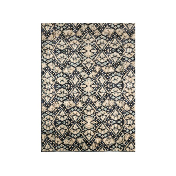 Magana Navy/Ivory Area Rug by Ivy Bronx