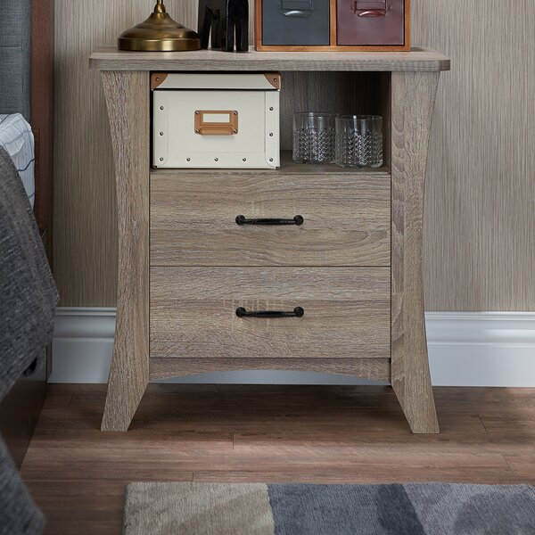 Firman 2 Drawers Nightstand by Red Barrel Studio