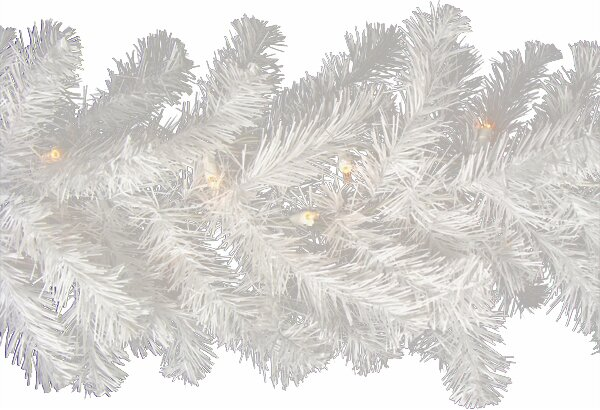 Pre-Lit Snow Artificial Christmas Garland by The Holiday Aisle
