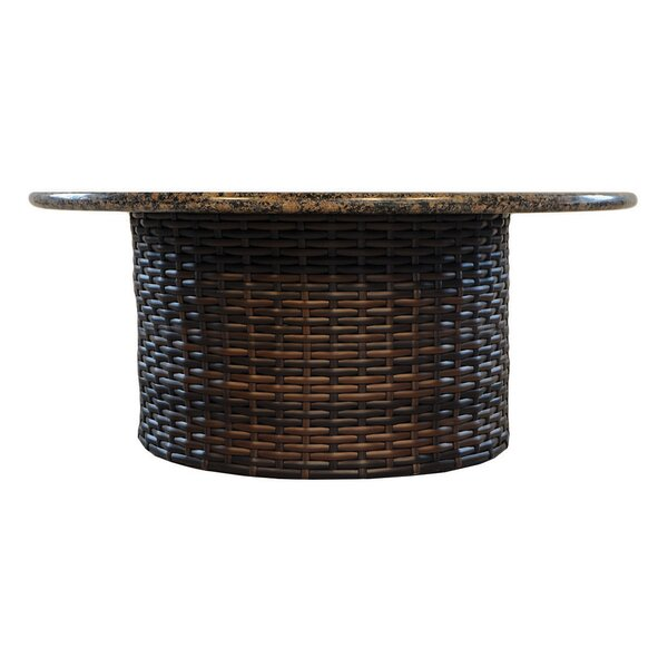 Contempo Wicker Rattan Chat Table by Lloyd Flanders