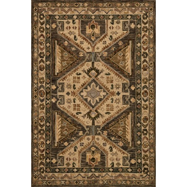 Braun Walnut/Beige Area Rug by Millwood Pines