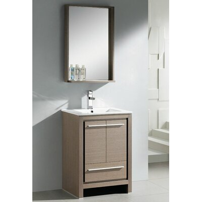 "Bathroom Vanity Table virtu usa bruno 24"" single contemporary bathroom vanity set with"