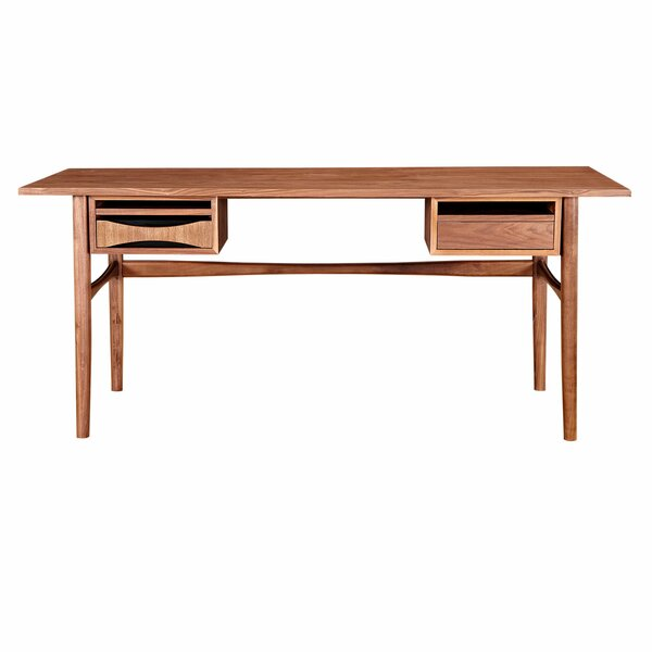 Dreketi Writing Desk with 2 Drawers by Corrigan Studio