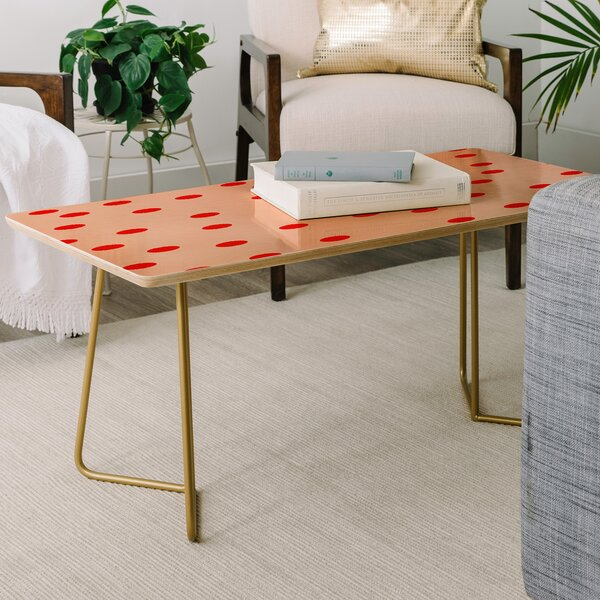 Vintage Dots Coffee Table by East Urban Home East Urban Home