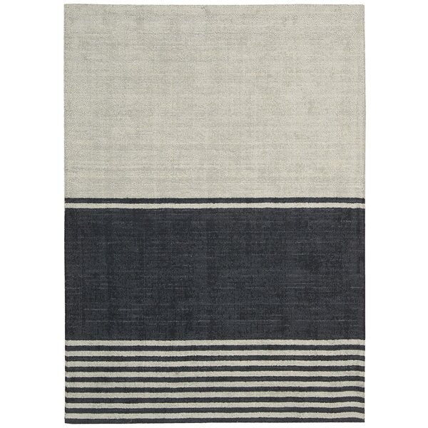 Tundra Hand-Woven Beige/Gray Area Rug by Calvin Klein