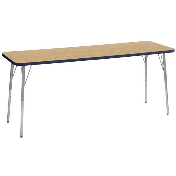 Contour Thermo-Fused Adjustable 24 x 72 Rectangular Activity Table by ECR4kids