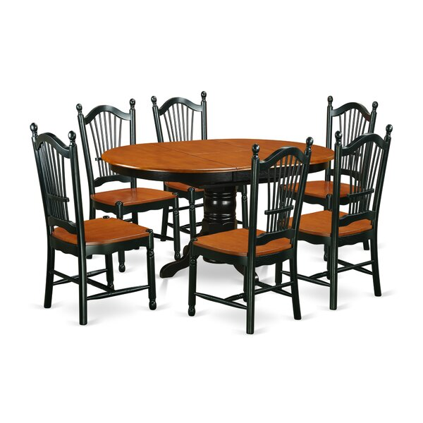 Aimee 7 Piece Solid Wood Dining Set by August Grove August Grove