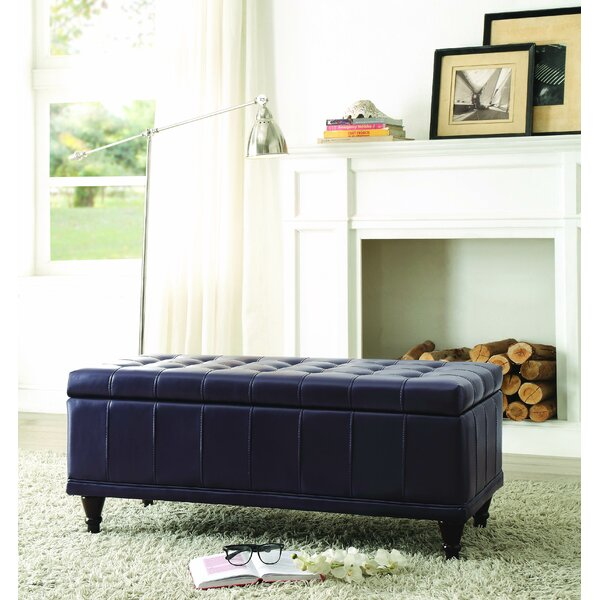 Cafferata Upholstered Storage Bench by Alcott Hill