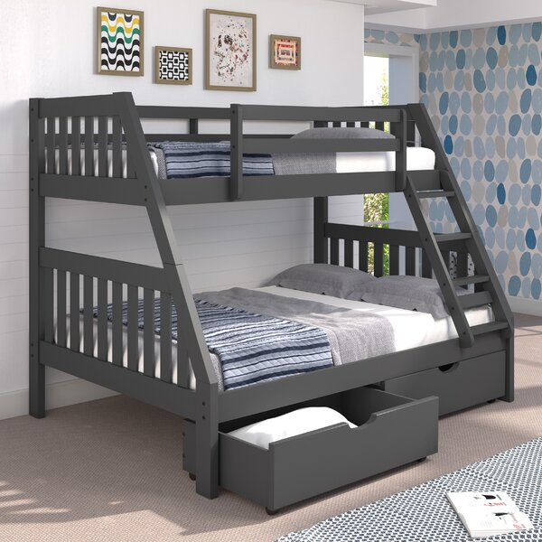 Mission Twin over Full Bunk Bed with Drawers by Chelsea Home