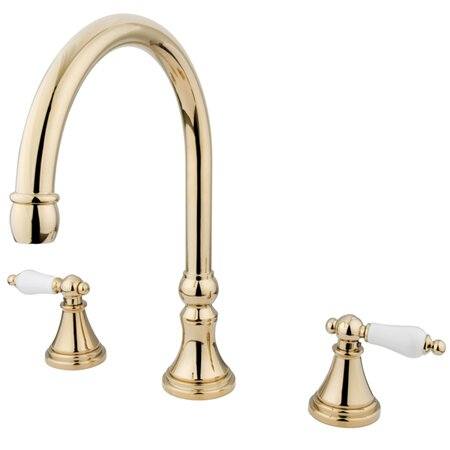 Roman Double Handle Roman Tub Faucet by Kingston B