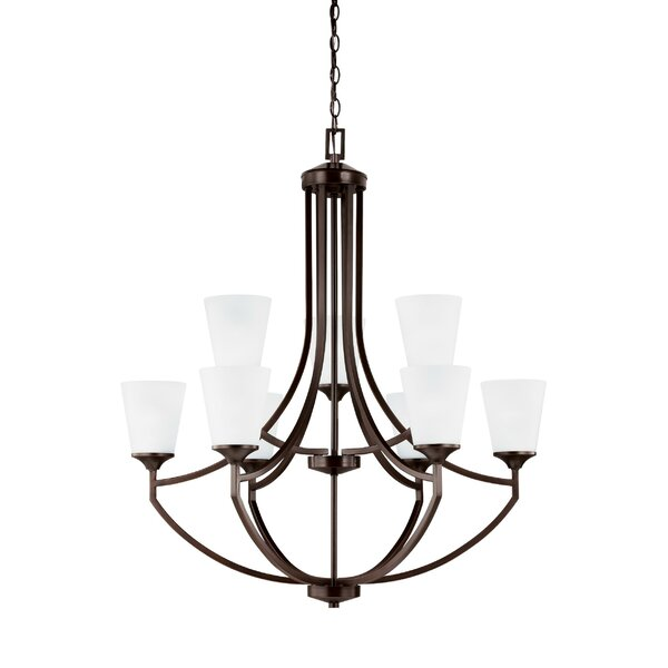 Elkton 9-Light Shaded Empire Chandelier by Darby Home Co Darby Home Co