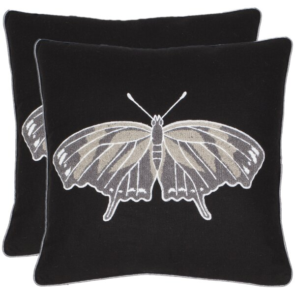 Orchard Butterfly Throw Pillow (Set of 2) by Safavieh