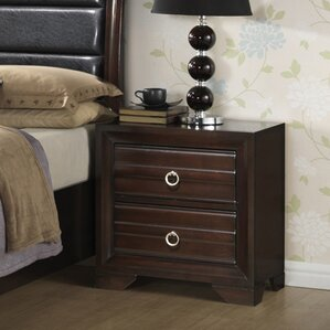 2 Drawer Nightstand by Hazelwood Home
