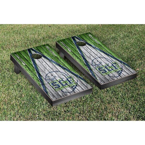 State College of Florida Manatees Triangle Weathered Version Cornhole Game Set by Victory Tailgate