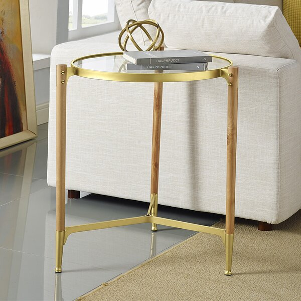Cathrine Round End Table by Wrought Studio Wrought Studio
