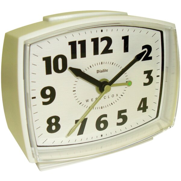 Electric Alarm Table Clock by Westclox Clocks