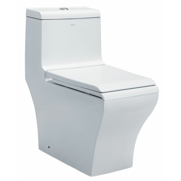 Dual Flush Rectangle One-Piece Toilet (Seat Included) by EAGO